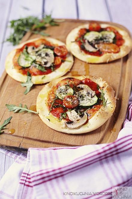 Veganskie mini pizze